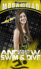 Banner - 2021-22 Andrew High School Senior Swim & Dive & Water Polo Players