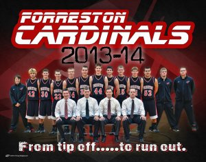 Banner - Forreston Cardinals Basketball Team