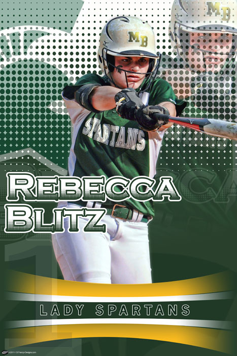 Personalized softball poster rebecca blitz custom sports posters personalized team collages for Softball poster ideas