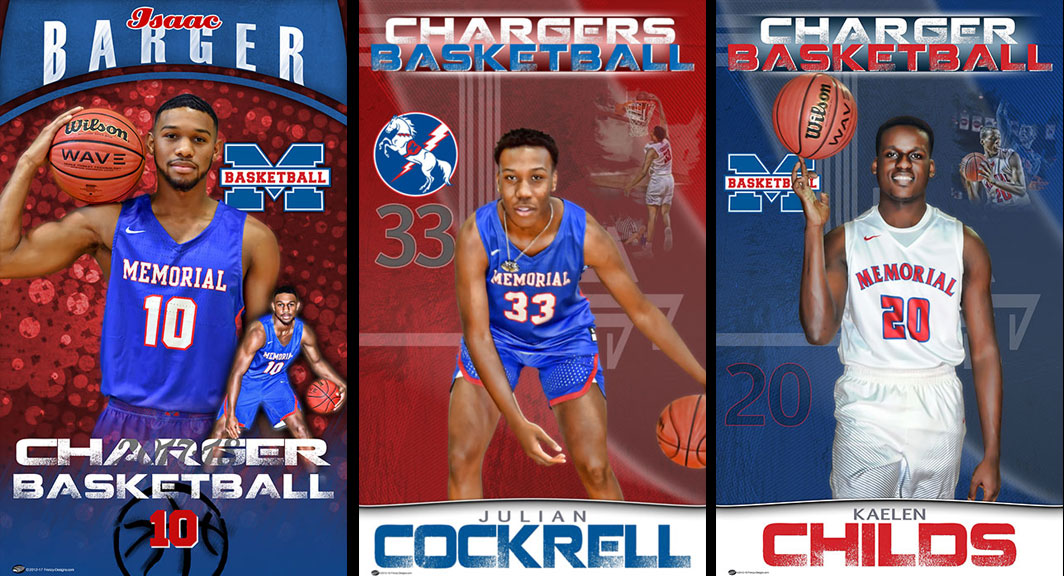 Custom Senior Basketball Banners – Memorial Chargers